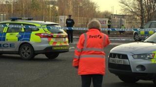 Stirling station scene after body found