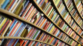 Generic book shelves