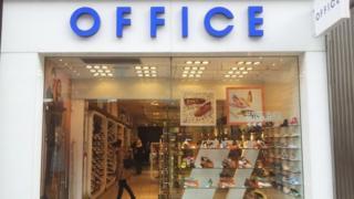 Office shoe shop on Oxford Street