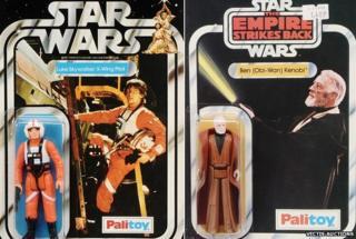 Luke Skywalker and Obi Wan Kenobi toys