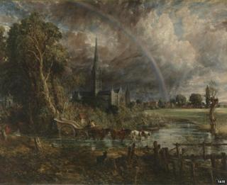 """John Constable's """"Salisbury Cathedral from the Meadows"""""""