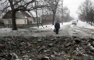Delbatseve in eastern Ukraine (20 Jan)