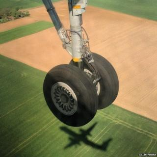 Wheels of an aeroplane