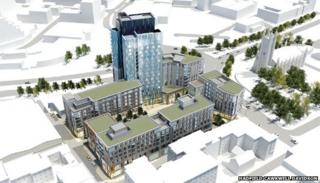 Artist impression of Sheffield Chinatown