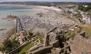 View from Jersey's Gorey Castle