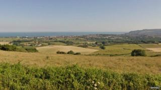 View from Brading Down on the Isle of Wight