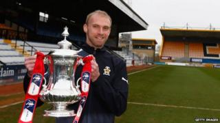 Luke Chadwick with the FA Cup