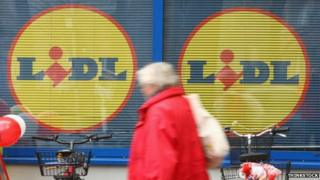 Man outside Lidl store