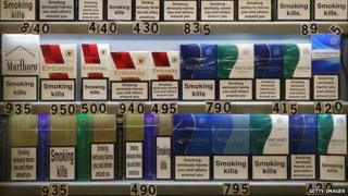 Cigarette packets for sale