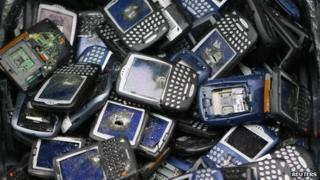 Broken Blackberry phones