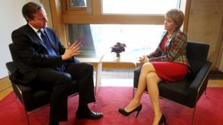 David Cameron and Nicola Sturgeon have met at the Scottish Parliament