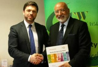 Stephen Crabb meets Dr Saleem Kidwai, secretary general of the Muslim Council of Wales