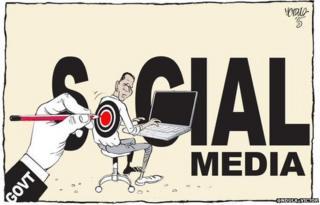 Cartoon of freedom of speech