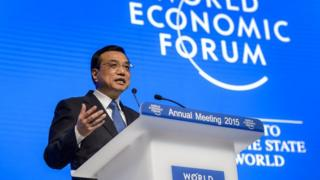 Chinese Premier Li Keqiang attends a session of the World Economic Forum (WEF) annual meeting in Davos on 21 January 2015.