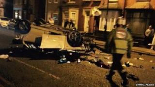 Crash in Denton Road, Audenshaw