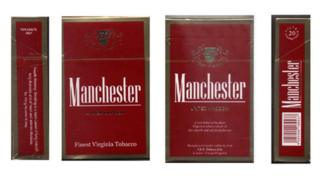Manchester cigarette packet
