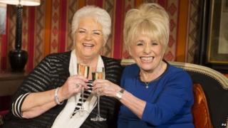 Barbara Windsor and Pam St Clement
