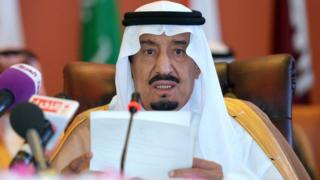Saudi Crown Prince Salman bin Abdulaziz al-Saud speaks on 14 May 2014 in Saudi Arabia