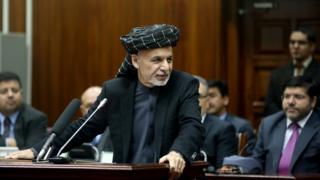 Afghan President Ashraf Ghani presented his nominees for cabinet during a ceremony in the Afghan parliament