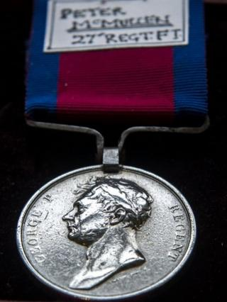 Private Peter McMullen's Battle of Waterloo medal