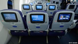 Seats on a Boeing 787