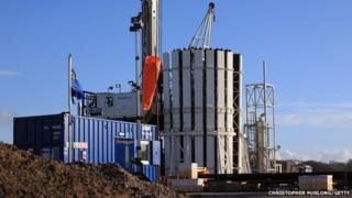 Shale gas test well near Southport