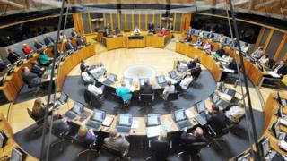 Debate in the Welsh assembly chamber