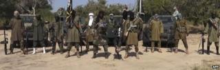 A screengrab from a Boko Haram video - October 2014
