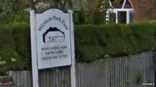 Western Park View care home sign