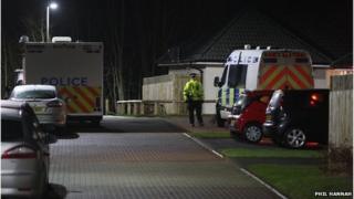 The death in Bridge of Earn was being treated as 'suspicious'