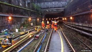 Tunnel repair work