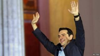 Head of radical leftist Syriza party Alexis Tsipras