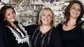 Stiff family - L-R: Chloe, Catherine, Katie