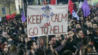 Syriza supporters celebrate (26 Jan)