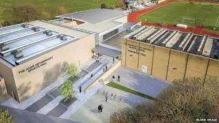 Artist's impression of Iffley Road sports complex in Oxford