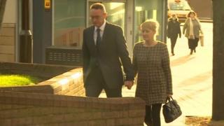 Sean Frayne arriving at Derby Crown Court