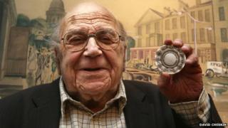 Anthony Wolffe with the 1944 City of Edinburgh Medal for Civic Design