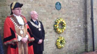 Holocaust Memorial Day service in Lowestoft, 2015