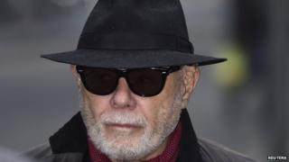Gary Glitter arriving at court on 21 January 2015
