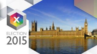 General election 2015 graphic featuring Westminster