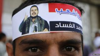 Houthi supporter in Sanaa