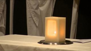 Holocaust Memorial candle at York Minster