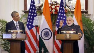 Mr Obama and Mr Modi pledged to improve bilateral ties between the US and India
