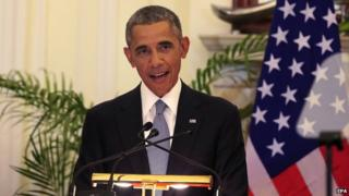 President Barack Obama backed religious freedom in India
