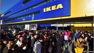 IKEA shoppers