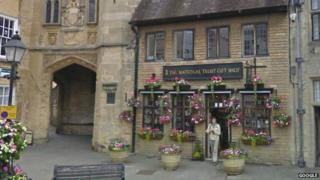 The National Trust shop in Wells, Somerset