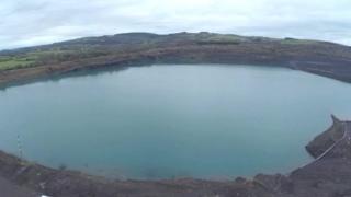 Margam open cast pit site
