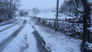 Road on Staffordshire Moorlands