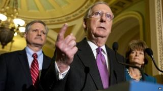 Republicans speak on Keystone XL during a news conference on Capitol Hill in Washington, Thursday, Jan. 29, 2015