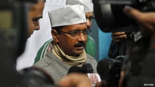 Arvind Kejriwal is the AAP's main campaigner in Delhi